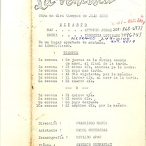 "Program for the production, ""La ventisca"" (New York, 1978)"