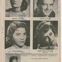 "Autographed program for the production, ""El cuarto lleno de rosas"""