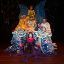 Photographs of the theatrical production, Alas de primavera (color)