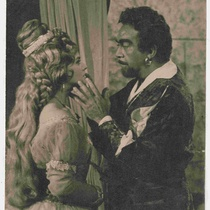 "Martha del Río and Enrique Santiesteban in the TV production, ""Otelo"""