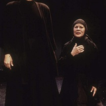 Adria Santana and Ana Margarita Martínez Casado in the theatrical production, La casa de Bernarda Alba