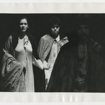 Ilka Tanya Payán (Beatrice), Toni Benitez (Bernardo) and Roberto López (Giacomo) in the theatrical production, Francesco: Vida y milagros de los Cenci