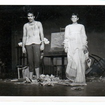 Photographs of Alberto Sarraín and Susana Alonson in the theatrical production, Flores de papel