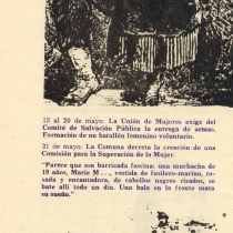 "Program for the production, ""Los días de la Comuna"""