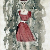 Costume design drawings for the theatrical production, Un tranvía llamado deseo