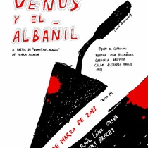 "Poster for the production, ""Ensayo escénico sobre Venus y el albañil"""