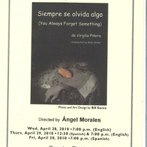 "Program of the production, ""Siempre se olvida algo"""