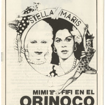 "Program for the production, ""Mimi y Fifí en el Orinoco"""