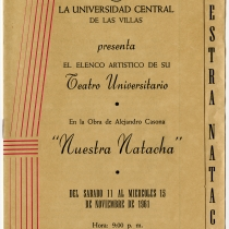 Program for the production, Nuestra Natacha