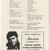 "Program for the production, ""Doña Diabla"""
