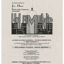 "Poster for the production, ""Hola mundo"""