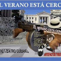 Postcard for the theatrical production, El verano está cerca