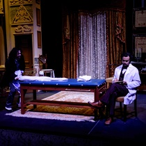 "Photographs of a rehearsal for the production, """"El cuarto de al lado"""""