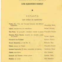 "Program for the production, ""La luna en el pantano"""