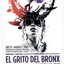Postcard for the theatrical production, El Grito del Bronx