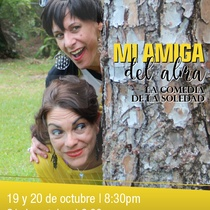 "Poster for the production ""Mi amiga del alma"" in Miami"