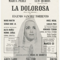 "Poster for the production, ""La dolorosa"""
