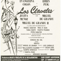 "Playbill for the production, ""Los claveles"""