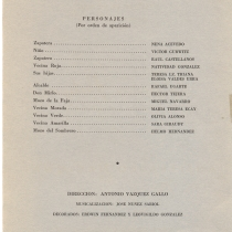 "Program for the production, ""La zapatera prodigiosa"""