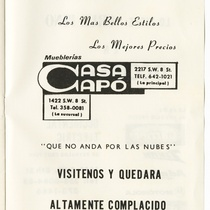 "Program for the production, ""60 Aniversario en el arte de Julita Muñoz"""