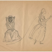 "Costume drawing for the production, ""Lucy"""