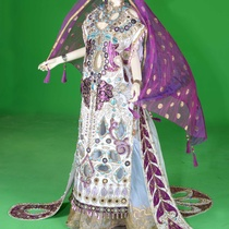 Photograph of Princess Innana's costume for the production, Gilgamesh
