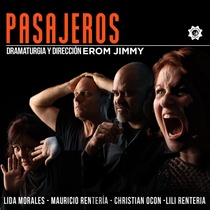 Poster for the theatrical production, Pasajeros