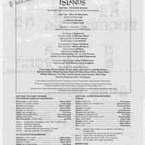 Program for the theatrical production, Floating Islands