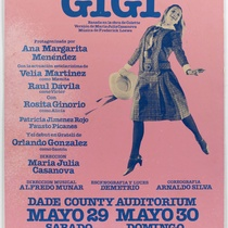 "Poster for the production, ""Gigi"""