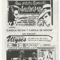 "Playbill for the production, ""¡Cosa más grande, chico"""