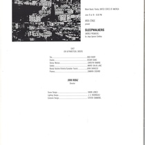 Program for the theatrical production, Sleepwalkers