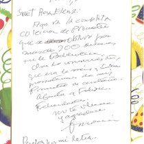 Letter from Francisco Morín to Rosa Ileana Boudet, 2011