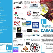 Program for the theater festival, Tercer Festival Internacional de Teatro Casandra