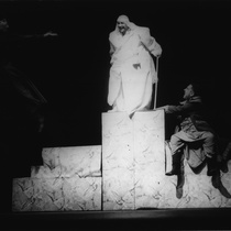 "Photograph of Mario Guerra (Dimanisio) and Roberto Gacio (Sedicom) in the production, ""Los siervos"""
