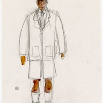 "Costume sketch for the character ""Hijo"" (son) for the production, ""Los fantasmas de Tulemón"""