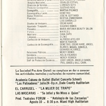 "Program for the production, ""Festival Federico Moreno Torroba"""