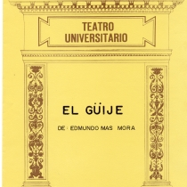 "Cover from the program for the production, ""El güije"""