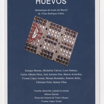 "Advertising postcard for the production, ""Huevos"""