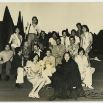"Cast from the production, ""Prometeo"""