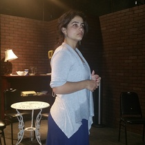 "Photographs of a rehearsal for the production, ""Un mundo de cristal"""