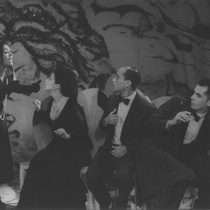 "Photograph of Déxter Cápiro, Alina Rodríguez, Mario Guerra and Laura de la Uz in the production, ""La boda"""