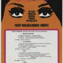 "Program for the production, ""Latin Fire"""